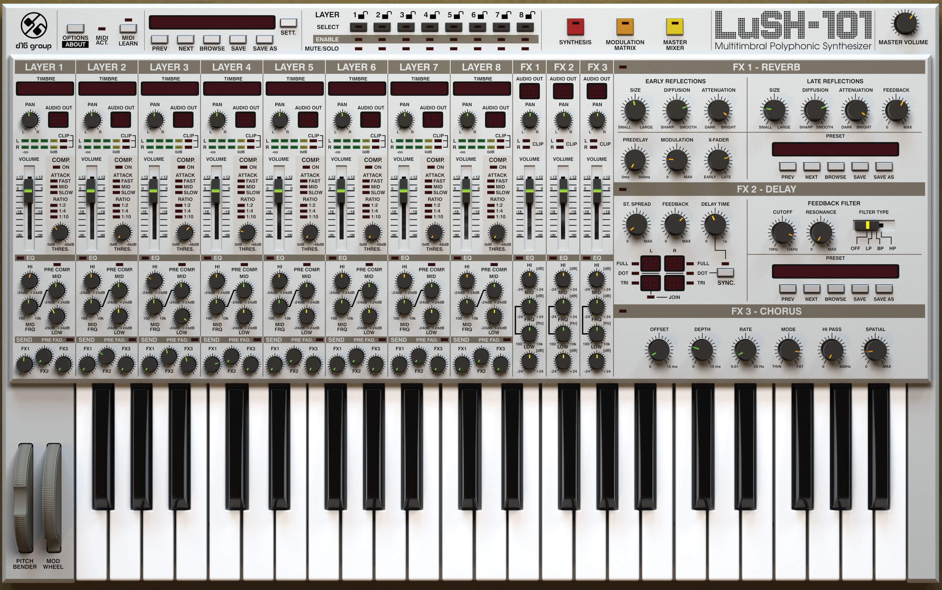 D16 Group LuSH-101 - Synth