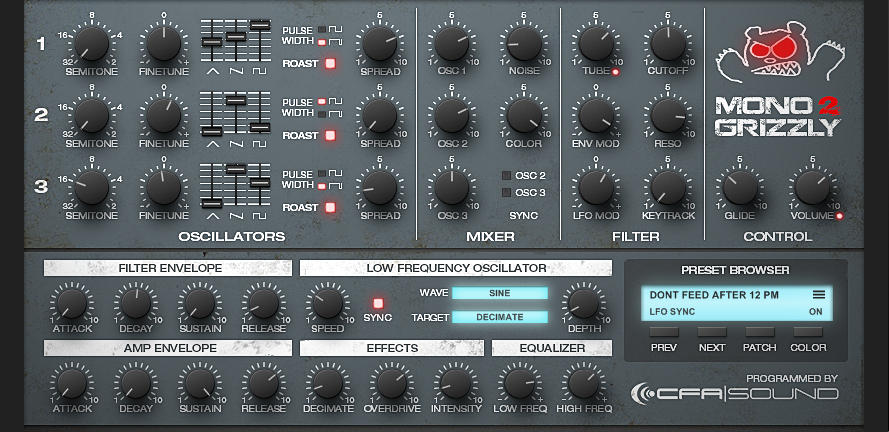 Resonance Sound CFA Sound MonoGrizzly 2 - Synth