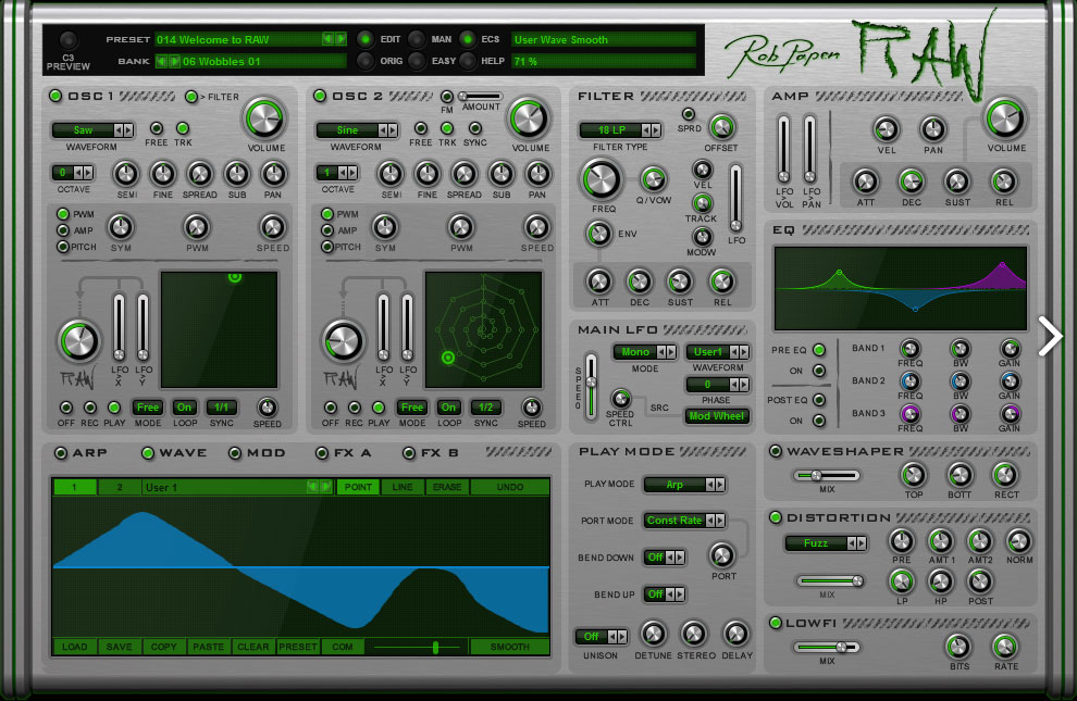 Rob Papen RAW - Synth