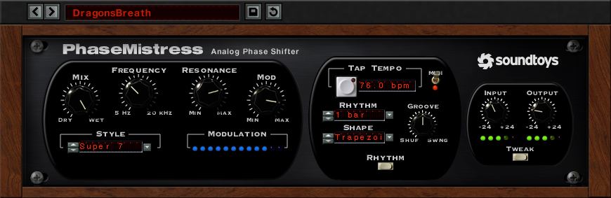 Soundtoys PhaseMistress - Phaser