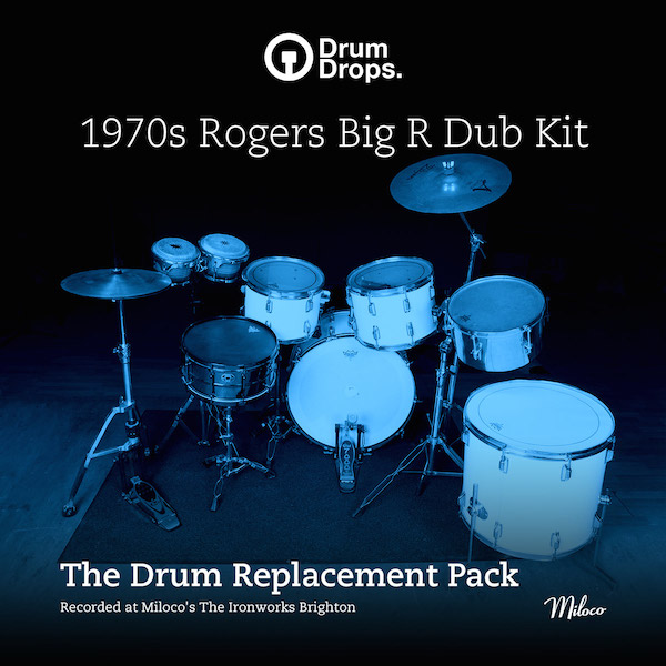 DrumDrops 1970s Rogers Big R Dub Kit - Drum Replacement Pack - Expansion Packs