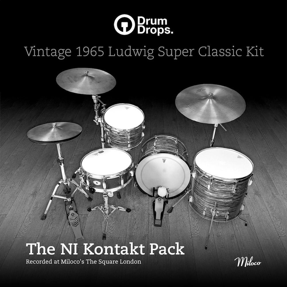 DrumDrops Ludwig Super Classic Kit - The Kontakt 5 Pack - Kontakt Instrument