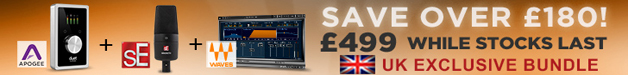 Apogee Duet 2, sE Magneto, Waves Renaissance Reverb and Loopmasters Sample packs deal available from Plugin Boutique