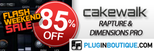 Cakewalk Dimension Pro and Rapture 85% off sale