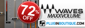 Waves MaxxVolume currently 72% off at Plugin Boutique!
