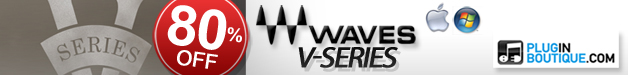 Waves V-Series including V-Comp, V-EQ3 and V-EQ4 now 80% off at Plugin Boutique.