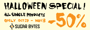 We've teamed up with Sugar Bytes this Halloween to offer 50% off selected plugins!