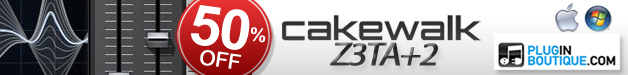 For Halloween we are offering 50% off Cakewalk's award winning monster synth Z3ta+2!