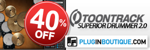 ToonTrack Superior Drummer 40% off at Plugin Boutique