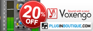 We are offering an exclusive 20% off all of Voxengo's software.