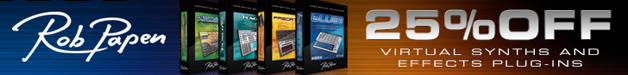 Rob Papen 25% off Black Friday sale