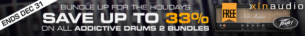 XLN Audio Christmas Deals have begun with 17% off their Addictive Drums 2 Fairfax Bundle + Free Peavey Revalver 4 Amp.