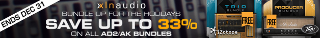 XLN Audio Christmas Deals have begun with 15% off their Addictive Drums 2 XXL Studio Bundle + Free Peavey Revalver 4 Amp.