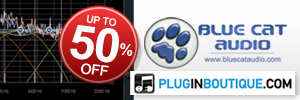 This Christmas save up to 50% off Blue Cat's Plugins