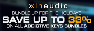 XLN Audio Christmas Deals have begun with 34% off their Addictive Keys Trio Bundle + Free iZotope Nectar Elements.