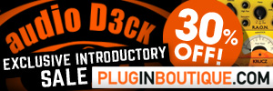 audioD3ck 30% Exclusive Introductory Sale