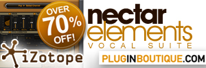 iZotope Nectar Elements 77% off Sale