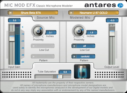 New antares mic mod efx classic microphone modeling plug-in mac pc.