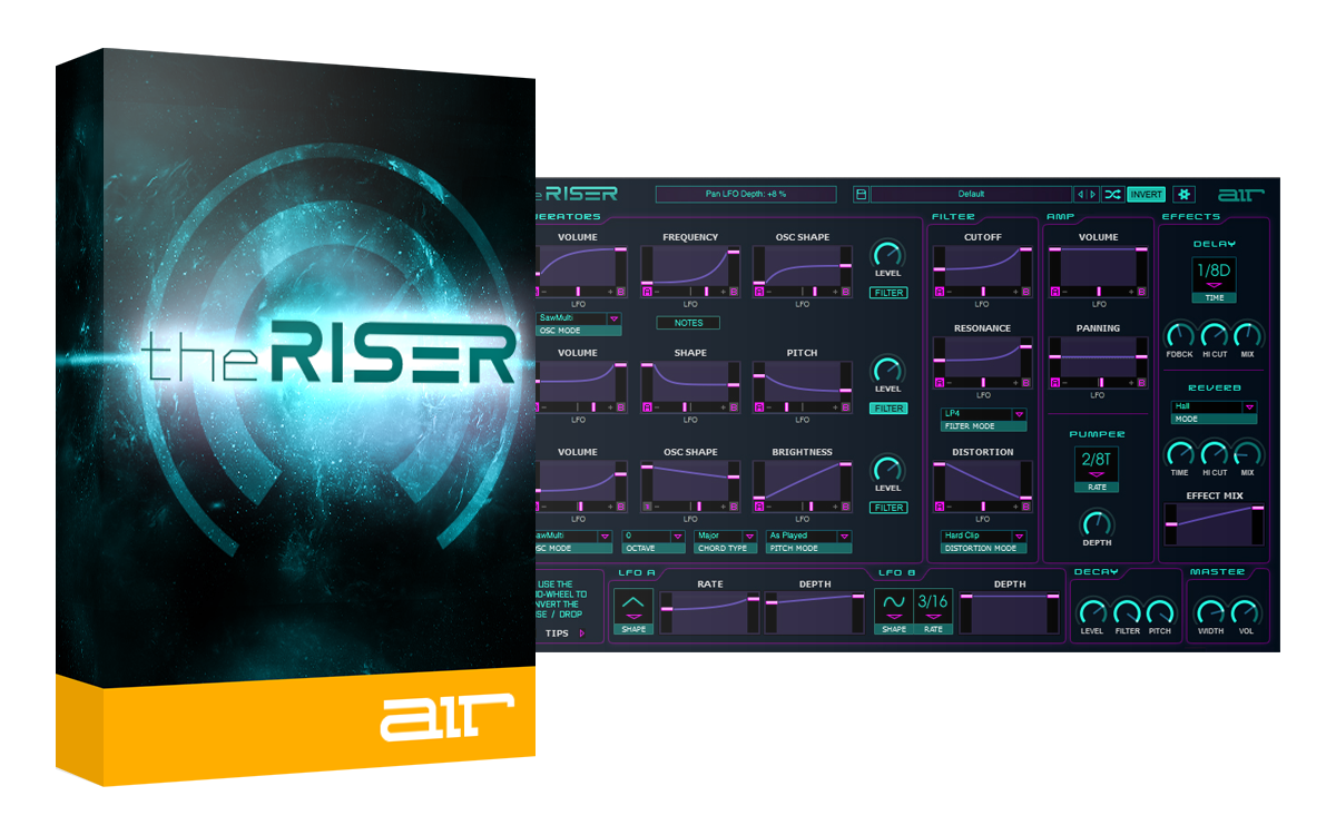 AIR Music Technology The Riser + Free Flux Transitions Expansion Pack - Synth