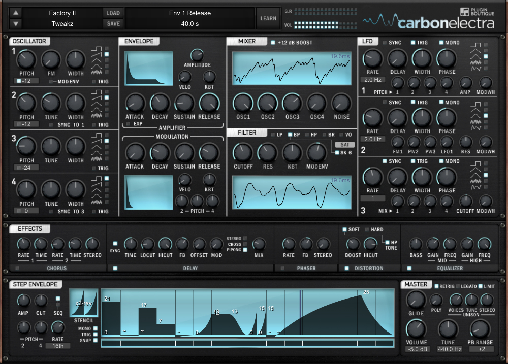 Carbon Electra User Interface - Main Image
