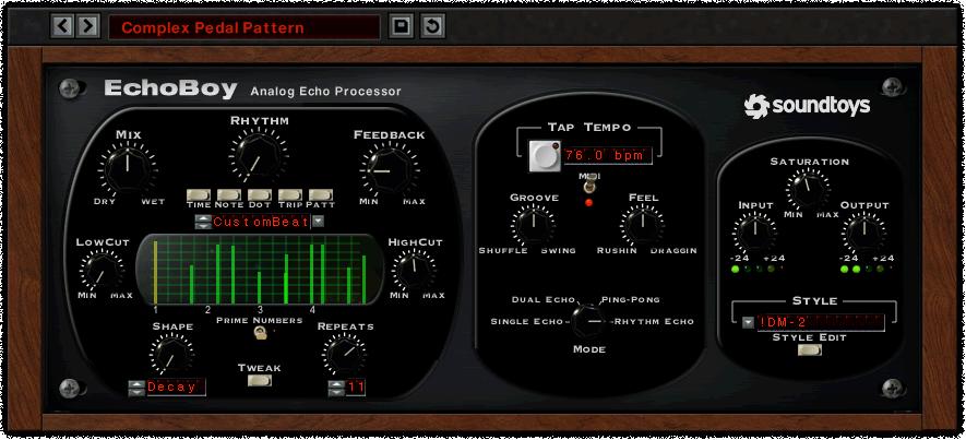 EchoBoy User Interface