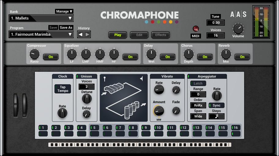 Chromaphone 2 Play User Interface