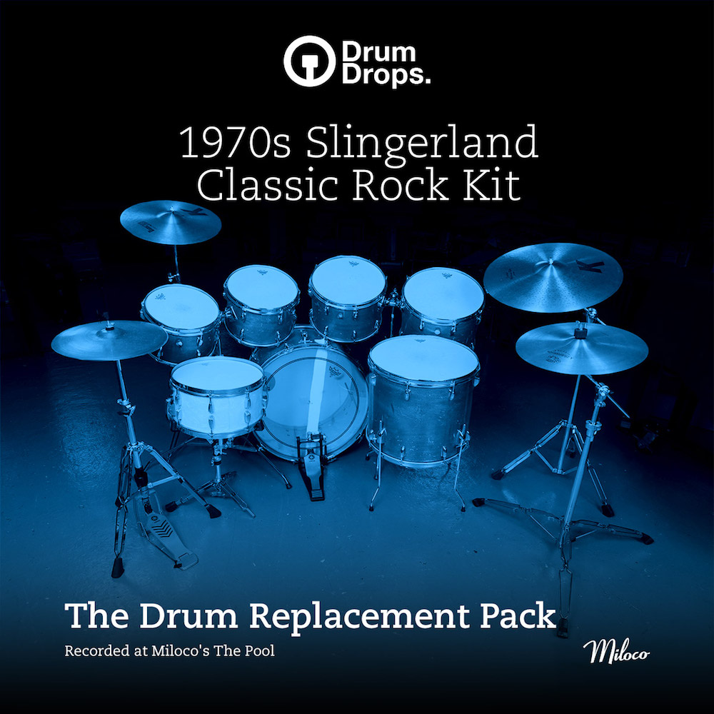 DrumDrops 1970s Slingerland Classic Rock Kit - Drum Replacement Pack - Expansion Packs
