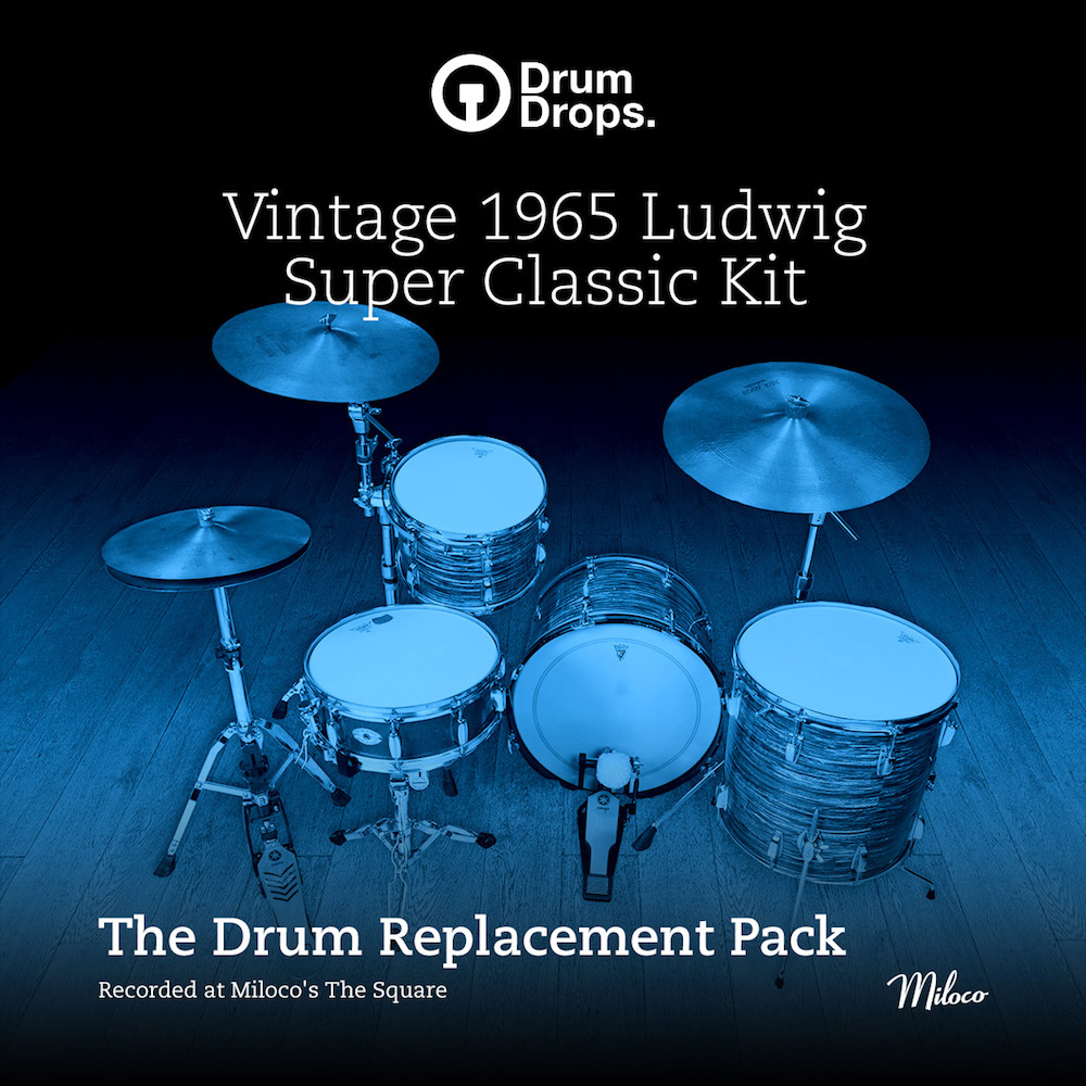 DrumDrops Ludwig Super Classic Kit - The Drum Replacement Pack - Expansion Packs