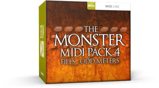 Toontrack Monster MIDI Pack 4 Fills Odd Meters - Expansion Packs