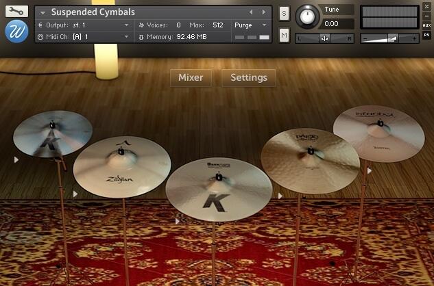 Wavesfactory Suspended Cymbals - Kontakt Instrument