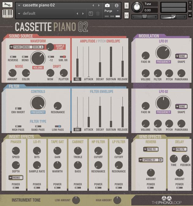 THEPHONOLOOP Cassette Piano.02 Kontakt - Kontakt Instrument