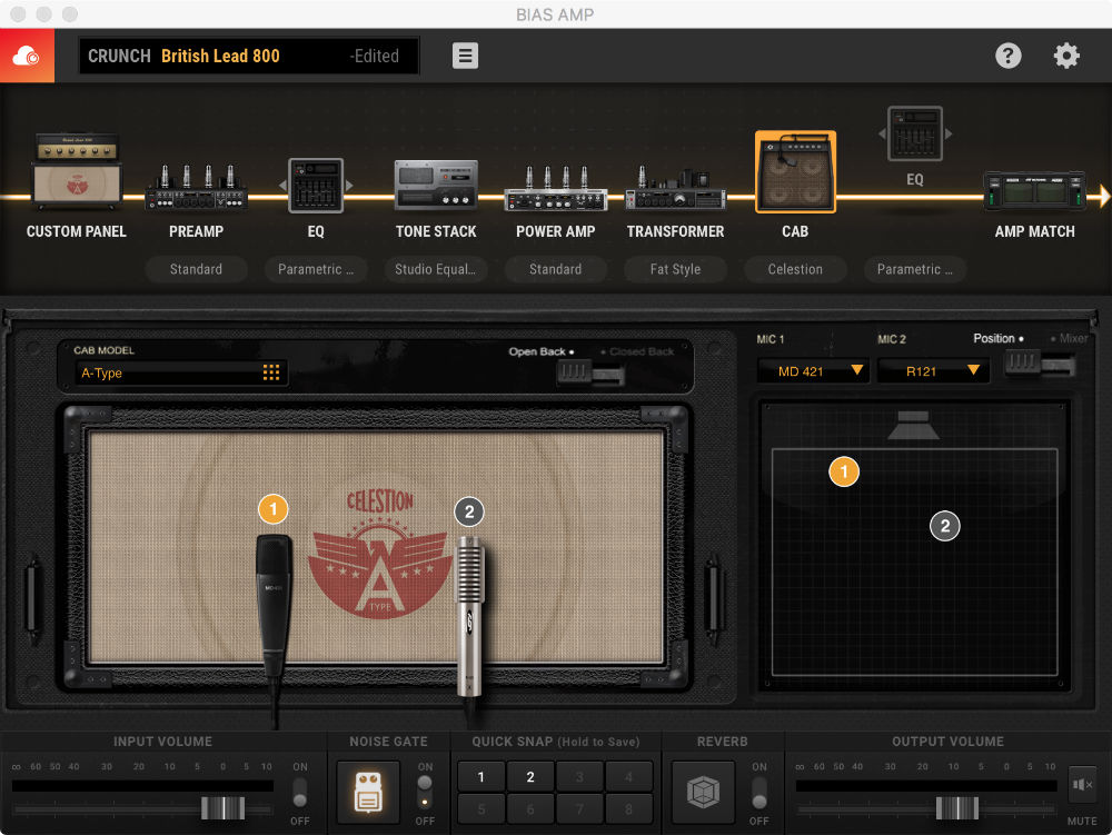 User Interface - Cab Celestion 1