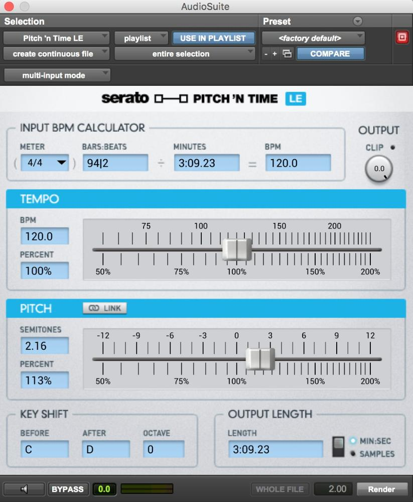 Pitch 'N Time LE, Pitch 'N Time LE plugin, buy Pitch 'N Time