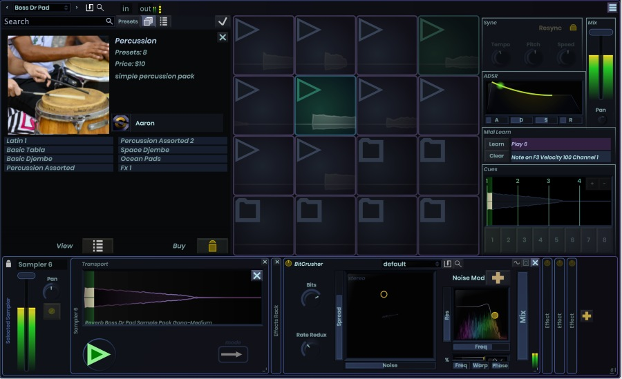 Stagecraft Armory - User Interface