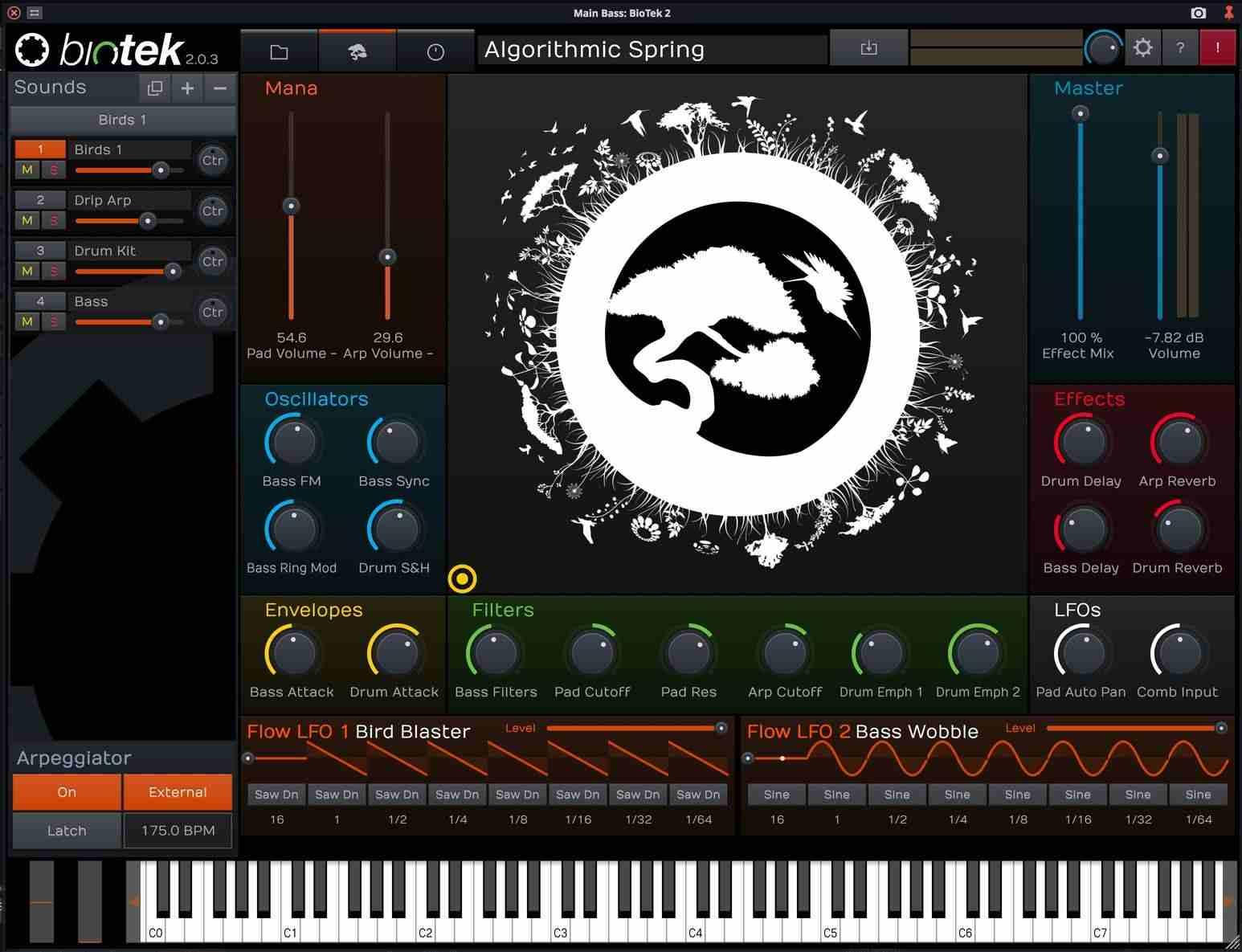 Tracktion BioTek  2 - Main GUI