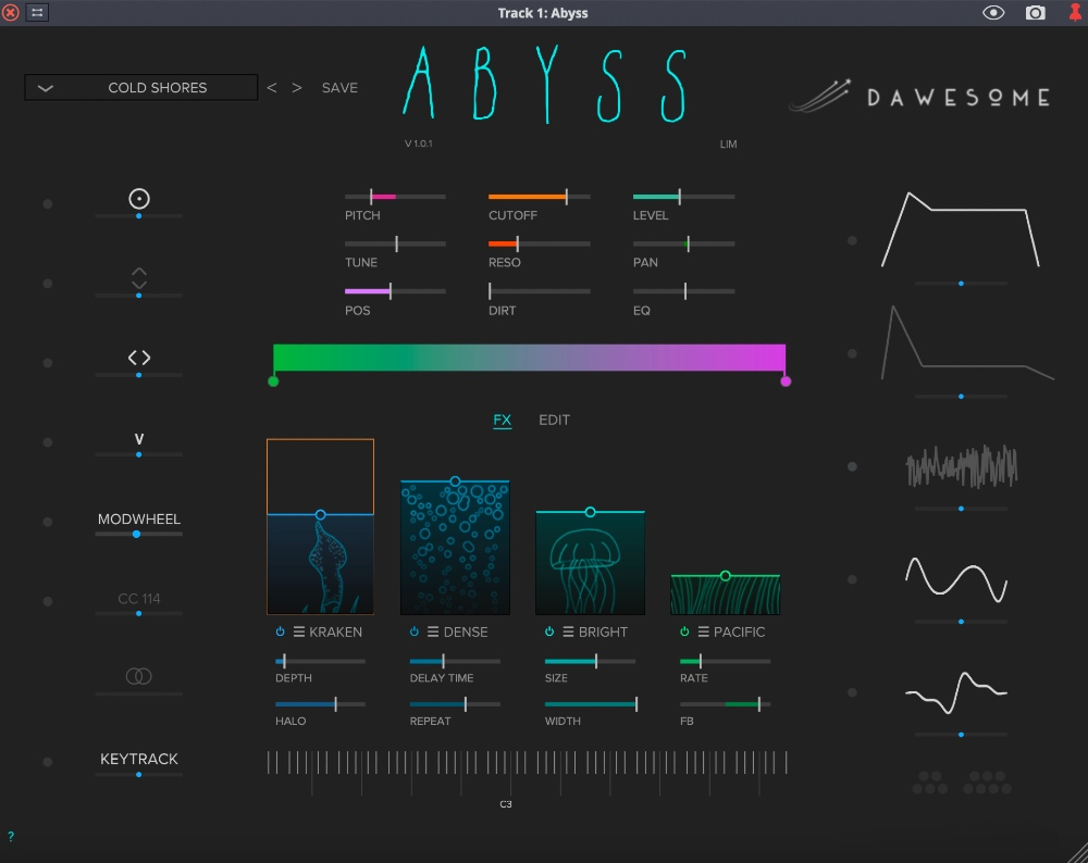 Tracktion Dawesome Abyss - Main