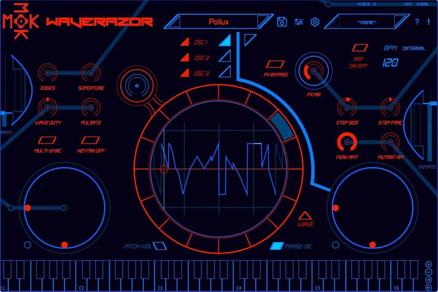 Tracktion MOK Waverazor - Main GUI