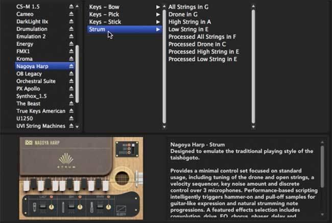 UVI Nagoya Harp Review at Sample Library Review