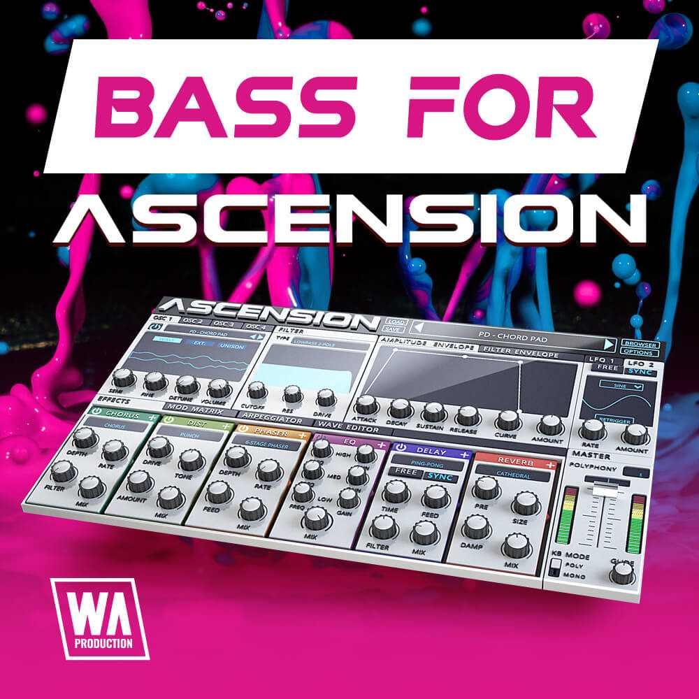 Original W A Production Bass For Ascension Pluginboutique Part Time Producer