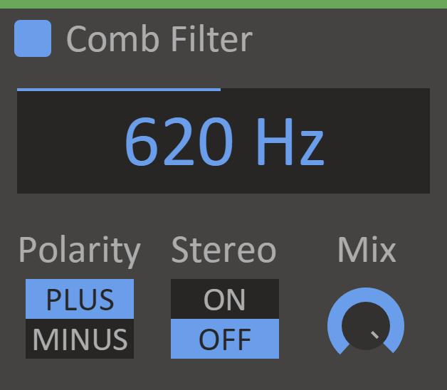 Content Comb Filter Screenshot