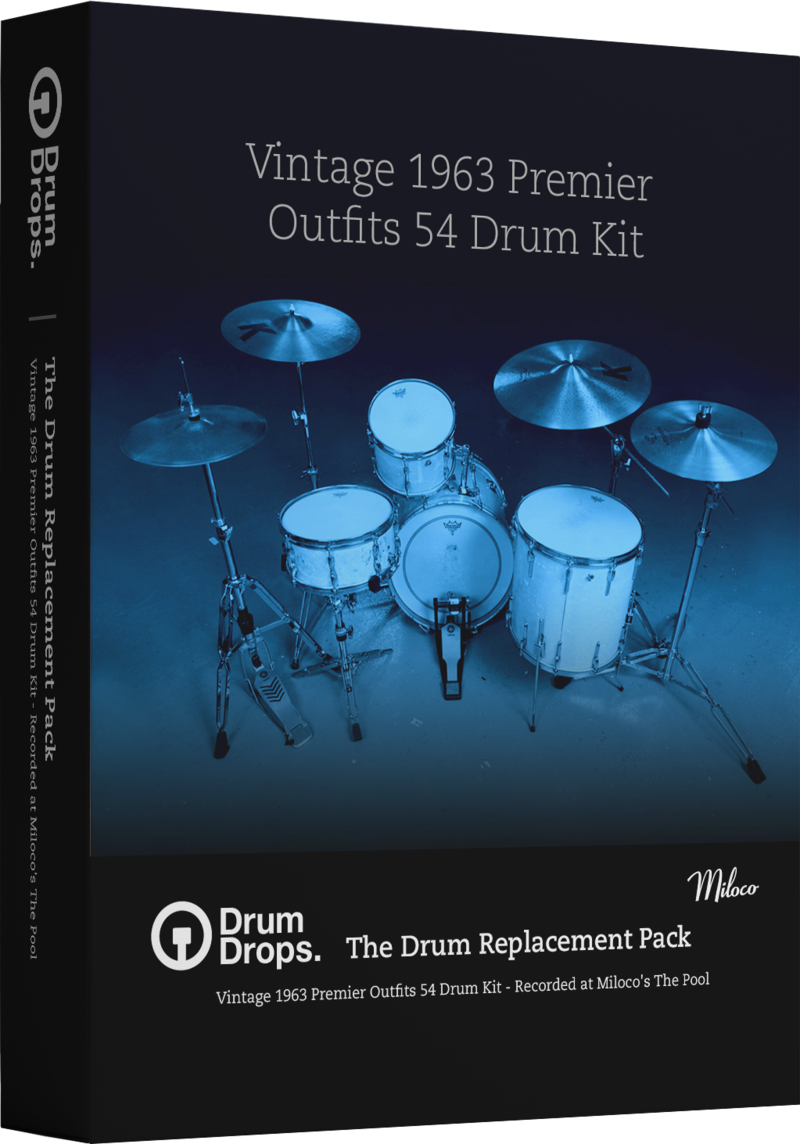 Vintage 1963 Premier Outfits 54 Drum Kit - The Drum Replacement Pack