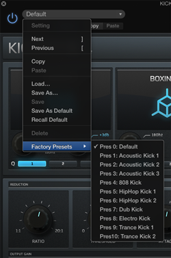 Content Presets Section Part Time Producer