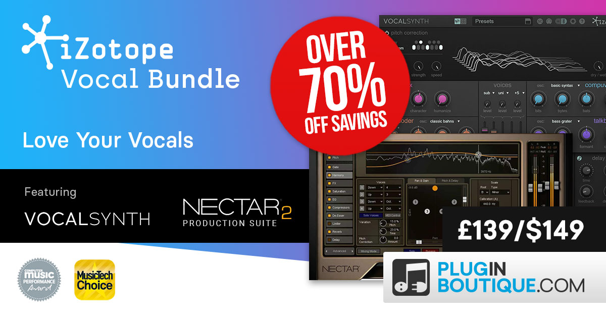 iZotope Vocal Bundle Sale: Save at Plugin Boutique