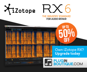 300x250 izotope rx6 upgrade sale pluginboutique
