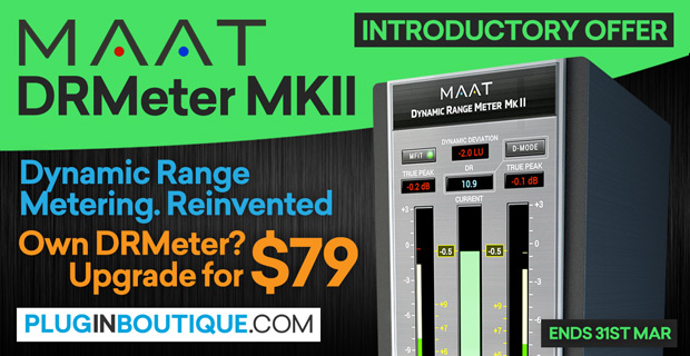 MAAT DRMeter MKII Introductory Sale: Save at Plugin Boutique