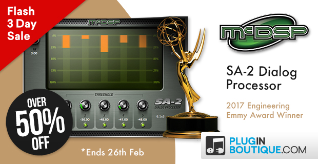 McDSP SA-2 Dialog Processor Flash Sale: Save Over 50% off at Plugin Boutique