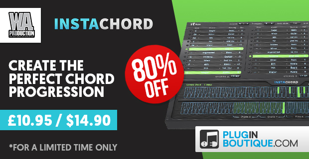 W.A Production InstaChord Introductory Sale: Save 80% off for a Limited Time Only