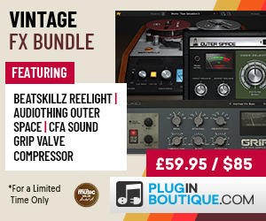 Vintage FX Bundle Available Exclusively at Plugin Boutique