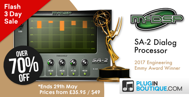 McDSP SA-2 Dialog Processor Flash Sale, save over 70% off at Plugin Boutique
