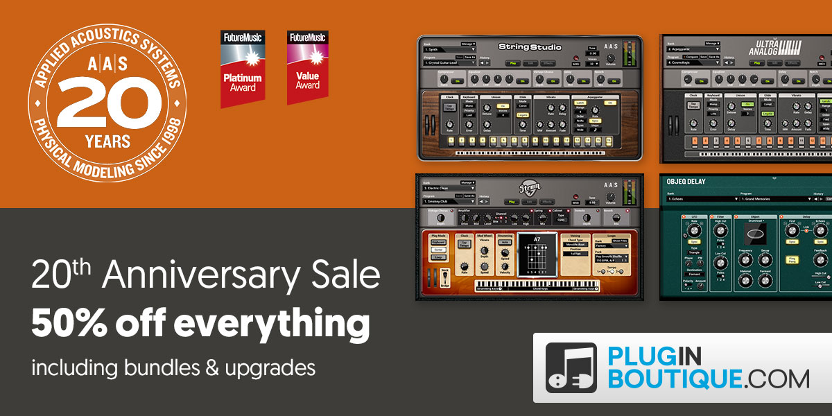 AAS 20th Anniversary Sale: Save at Plugin Boutique